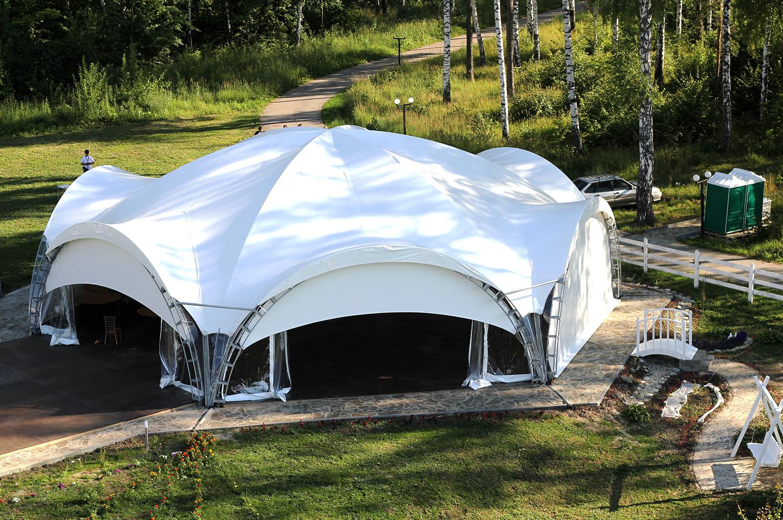 изготовление шатров из пвх